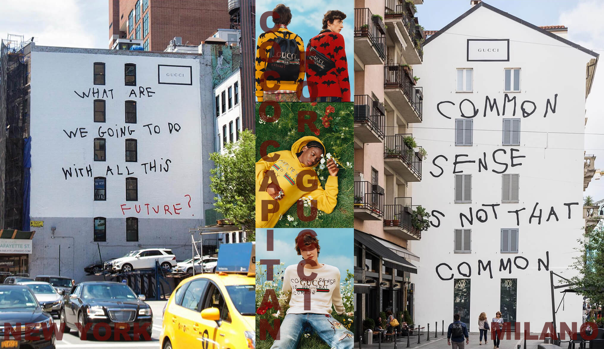 FOR MILAN AND NEW YORK, ART WALL PROJECT BY GUCCI